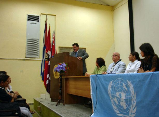 Modelado de Naciones Unidas en Universidad de Pinar del Río